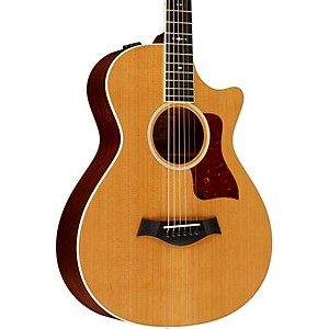 Taylor-512ce-Grand-Concert-12-Fret-Cutaway-ES2-Acoustic-Electric-Guitar-Medium-brown-stain-Medium-Brown-Stain