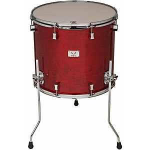Pork-Pie-Little-Squealer-Birch-Mahogany-Floor-Tom-with-Chrome-Hardware-18x16-inch-Black-Cherry-High-Gloss-Lacquer