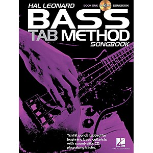 Hal-Leonard-Hal-Leonard-Bass-Tab-Method-Songbook-1-Book-CD-Standard