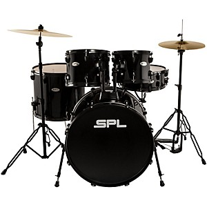Sound-Percussion-Unity---5-Piece-Drum-Set-with-Hardware--Cymbals-and-Throne-Black