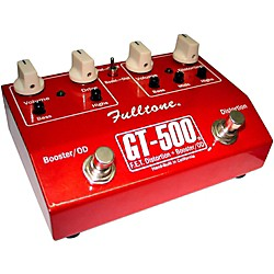 fulltone GT-500 FET Distortion + Booster and Overdrive Guitar Effects Pedal (GT-500RED)