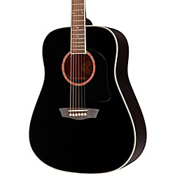 washburn WD100DL Dreadnought Mahogany Acoustic Guitar (WD100DLBK)
