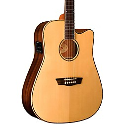 washburn WD25SCE Solid Sitka Spruce Top Acoustic Cutaway Electric Dreadnought Rosewood Guitar With Fishman Pr (WD25SCE)