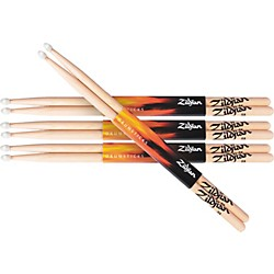 zildjian Natural Hickory Drumsticks 5A wood Buy 3 Get One Free (5AWN KIT)