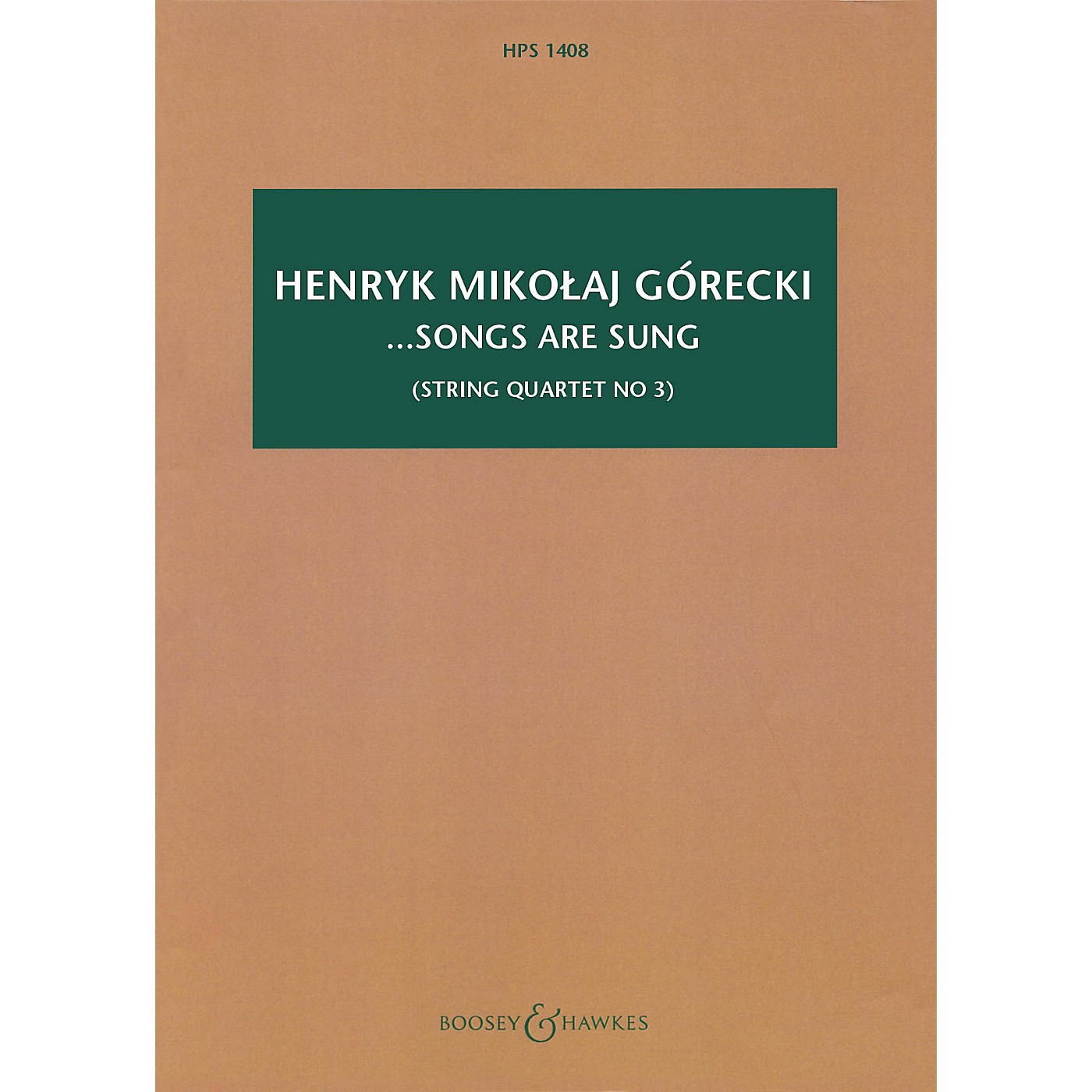 Boosey and Hawkes ...songs are sung, Op. 67 Boosey & Hawkes Scores/Books Series Softcover by Henryk Mikolaj Górecki thumbnail
