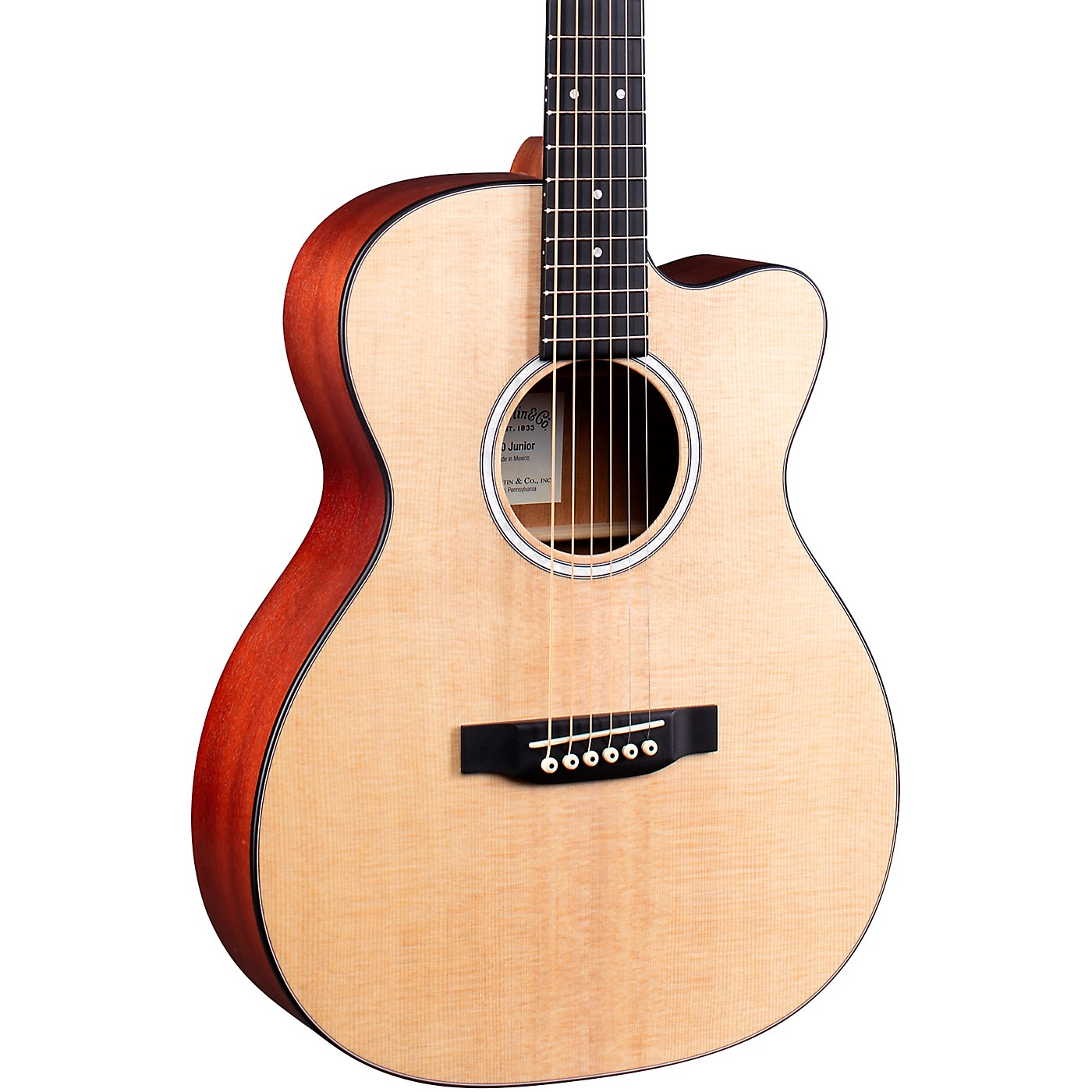 Martin 000 Jr-10E Auditorium Cutaway Acoustic-Electric Guitar thumbnail
