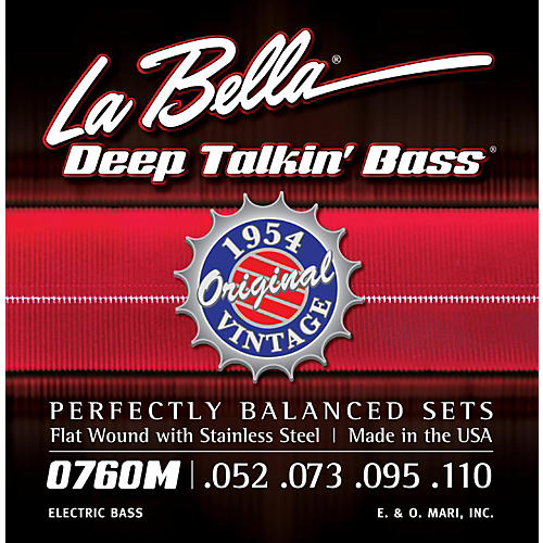 LaBella 0760M Deep Talkin' Bass 1954 Original Flat Wound Electric Bass Strings thumbnail
