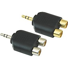 "American Recorder Technologies 1/8"" Male Stereo To Two RCA Female Adapter"