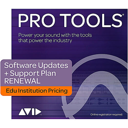 Avid 1-Year Software Updates + Support RENEWAL for Pro Tools Academic Institution (Boxed) thumbnail