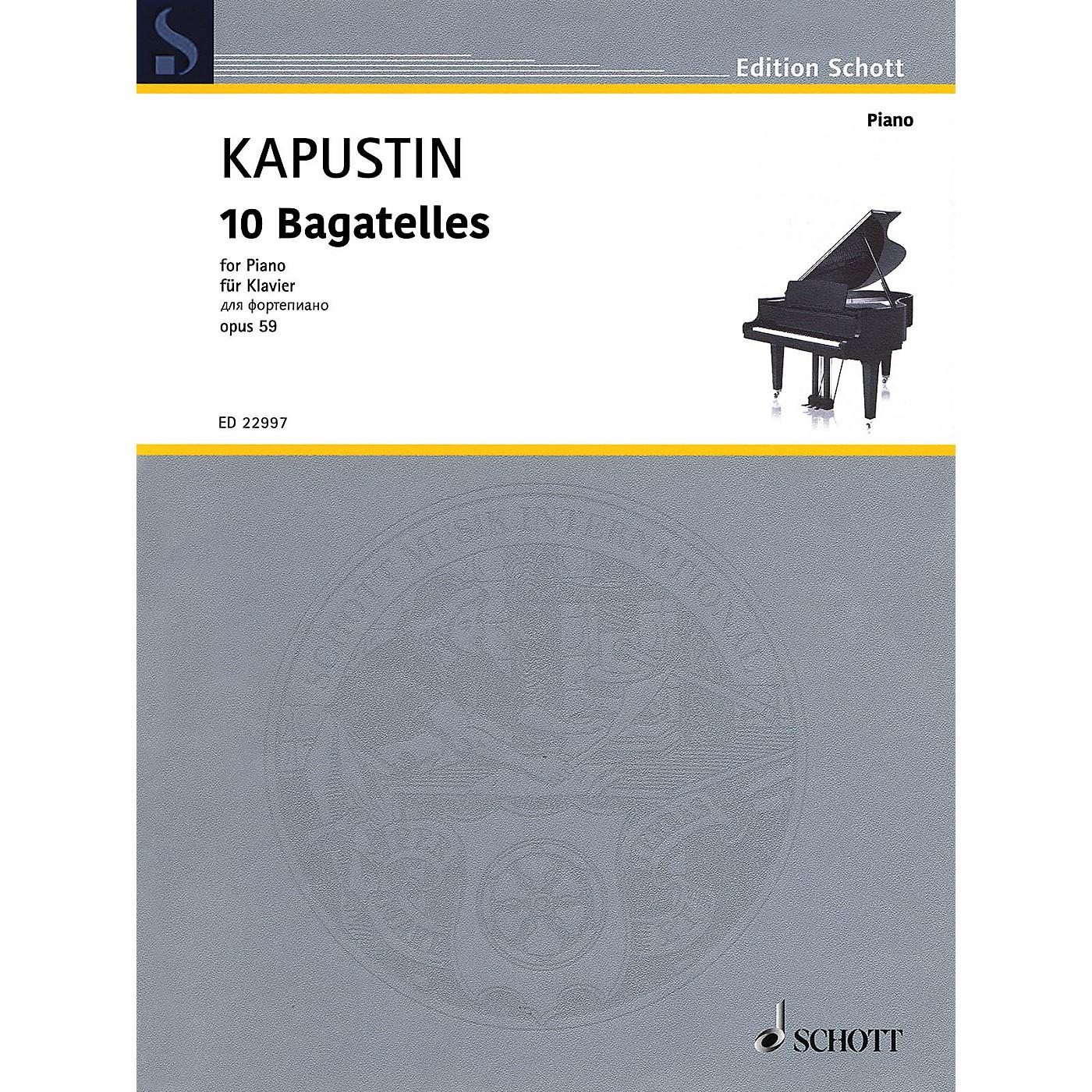 Schott 10 Bagatelles, Op. 59 Piano Solo by Kapustin thumbnail