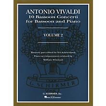 G. Schirmer 10 Bassoon Concerti, Vol. 2 Woodwind Solo Series by Vivaldi Edited by Sol Schoenbach