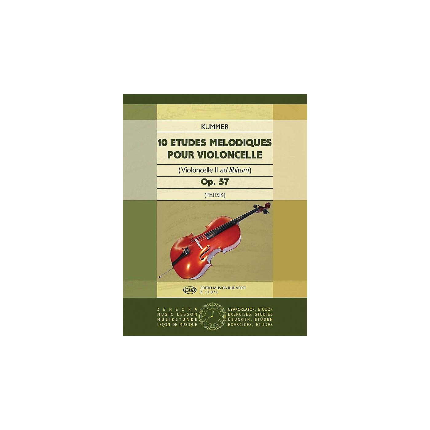 Editio Musica Budapest 10 Etudes Melodiques, Op. 57 (Violoncello II ad. lib.) EMB Series by Friedrich August Kummer thumbnail