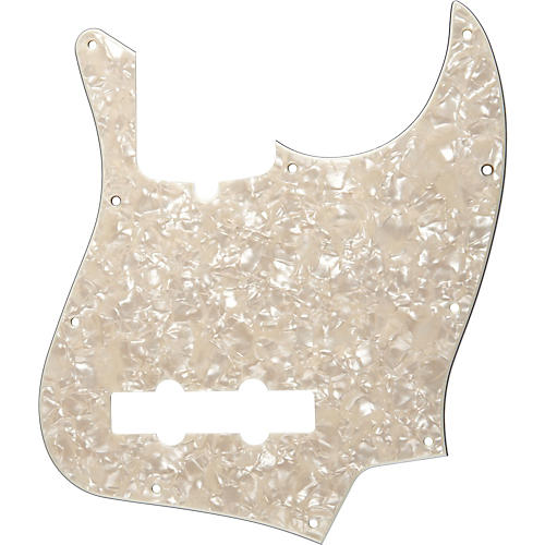 Fender 10-Hole Standard Jazz Bass Pickguard Aged White Pearl thumbnail