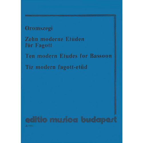 Editio Musica Budapest 10 Modern Etudes-bsn EMB Series thumbnail