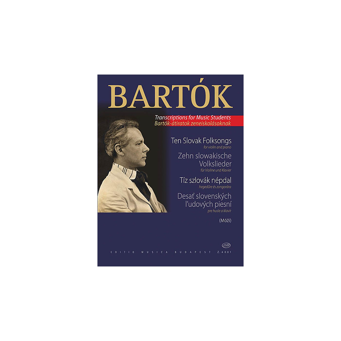 Editio Musica Budapest 10 Slovak Folksongs (from the series For Children Violin Solo) EMB Series Composed by Béla Bartók thumbnail