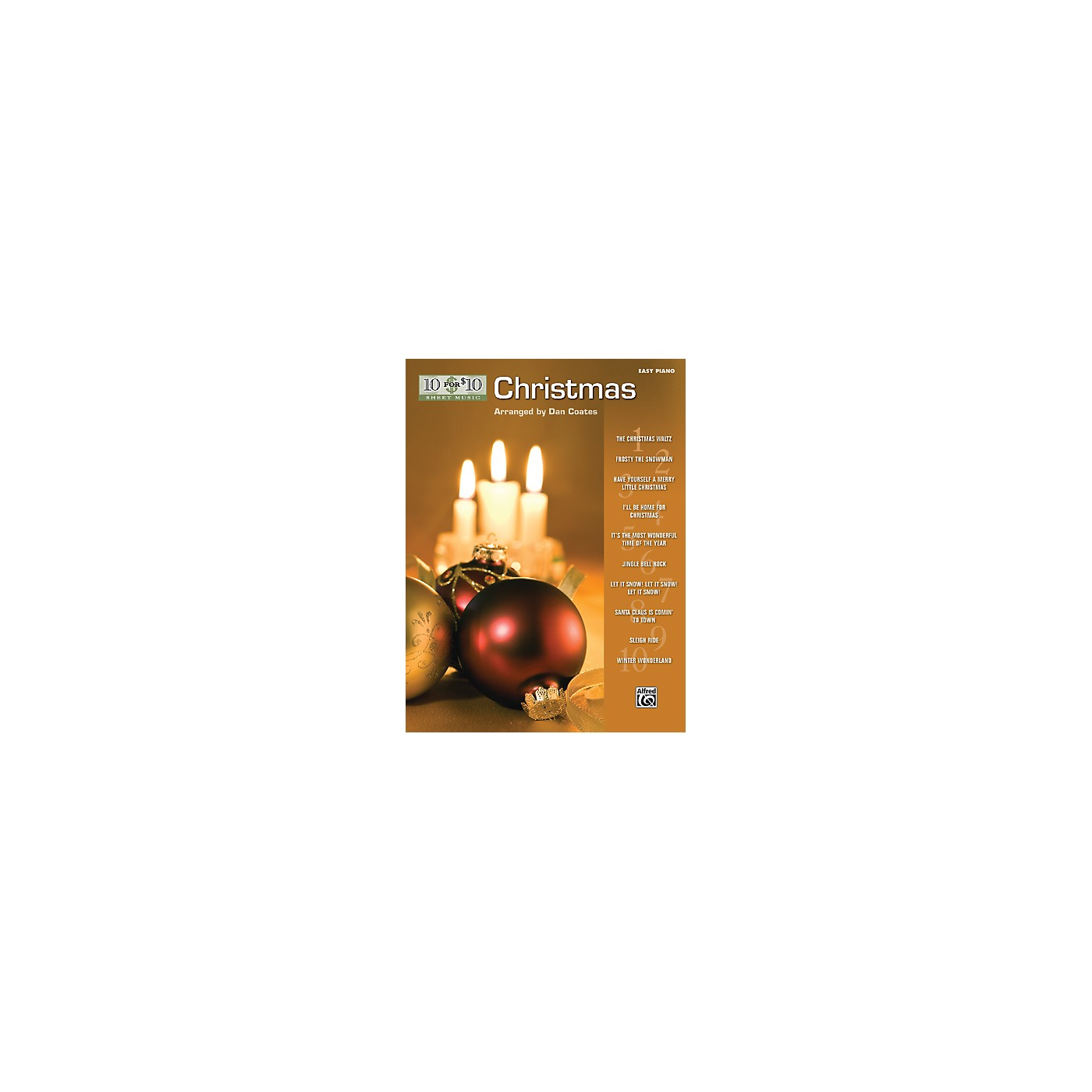 Alfred 10 for 10 Sheet Music Christmas Easy Piano Book thumbnail
