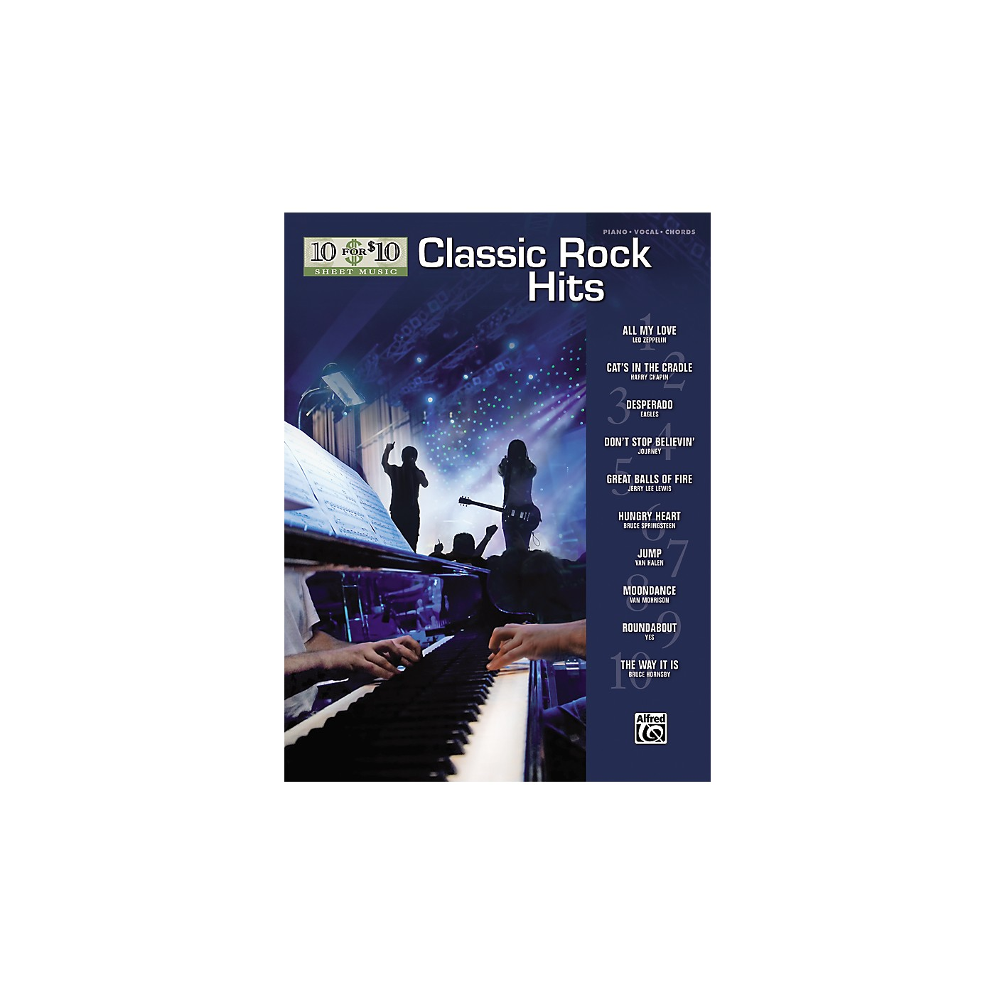 Alfred 10 for 10 Sheet Music Classic Rock Piano/Vocal/Chords thumbnail