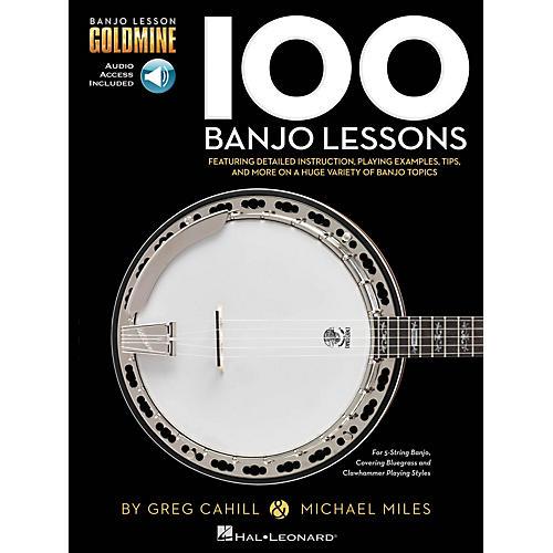 Hal Leonard 100 Banjo Lessons - Banjo Lesson Goldmine Book/Audio Online thumbnail