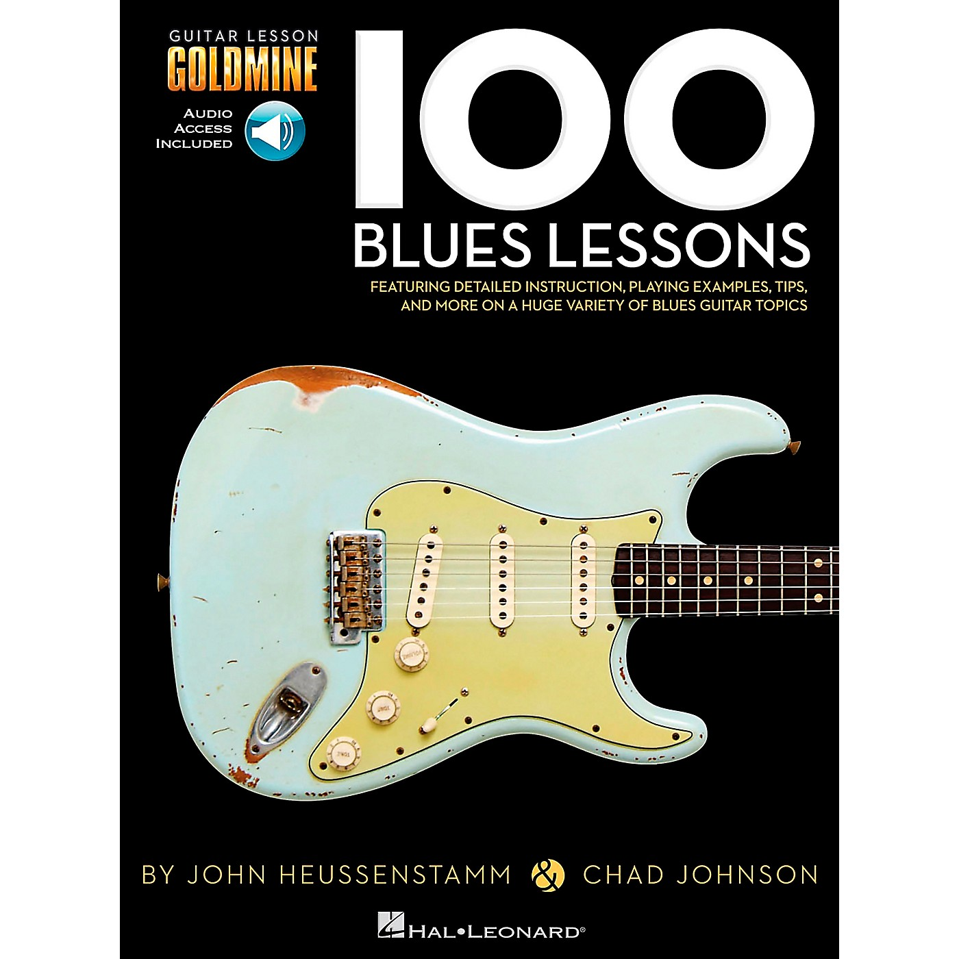 Hal Leonard 100 Blues Lessons Guitar Lesson Goldmine Series Softcover with Online Audio thumbnail