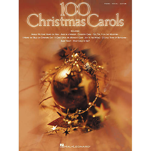Hal Leonard 100 Christmas Carols Piano, Vocal, Guitar Songbook-thumbnail