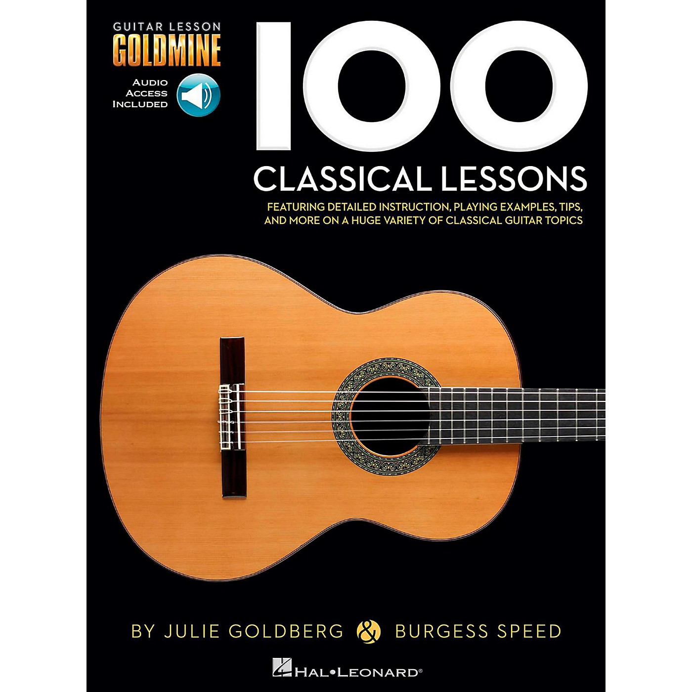 Hal Leonard 100 Classical Lessons - Guitar Lesson Goldmine Series Book/Audio Online thumbnail