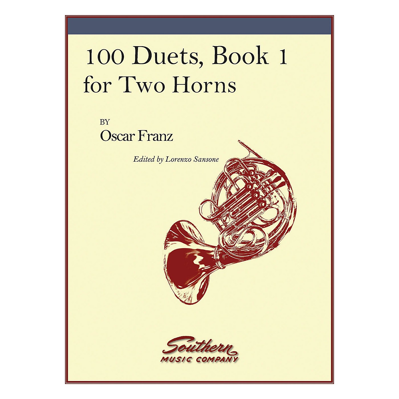Southern 100 Duets, Book 1 (Horn Duet) Southern Music Series Arranged by Lorenzo Sansone thumbnail