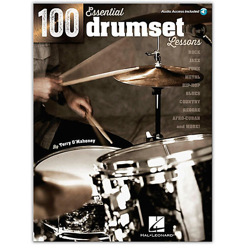 Hal Leonard 100 Essential Drumset Lessons Book/Online Audio thumbnail