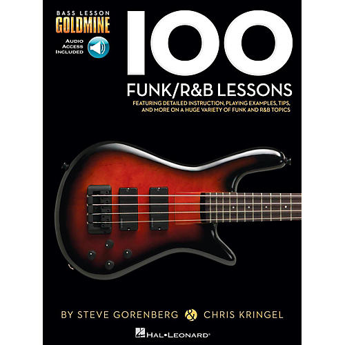 Hal Leonard 100 Funk/R&B Lessons - Bass Lesson Goldmine Series Book/Online Audio thumbnail