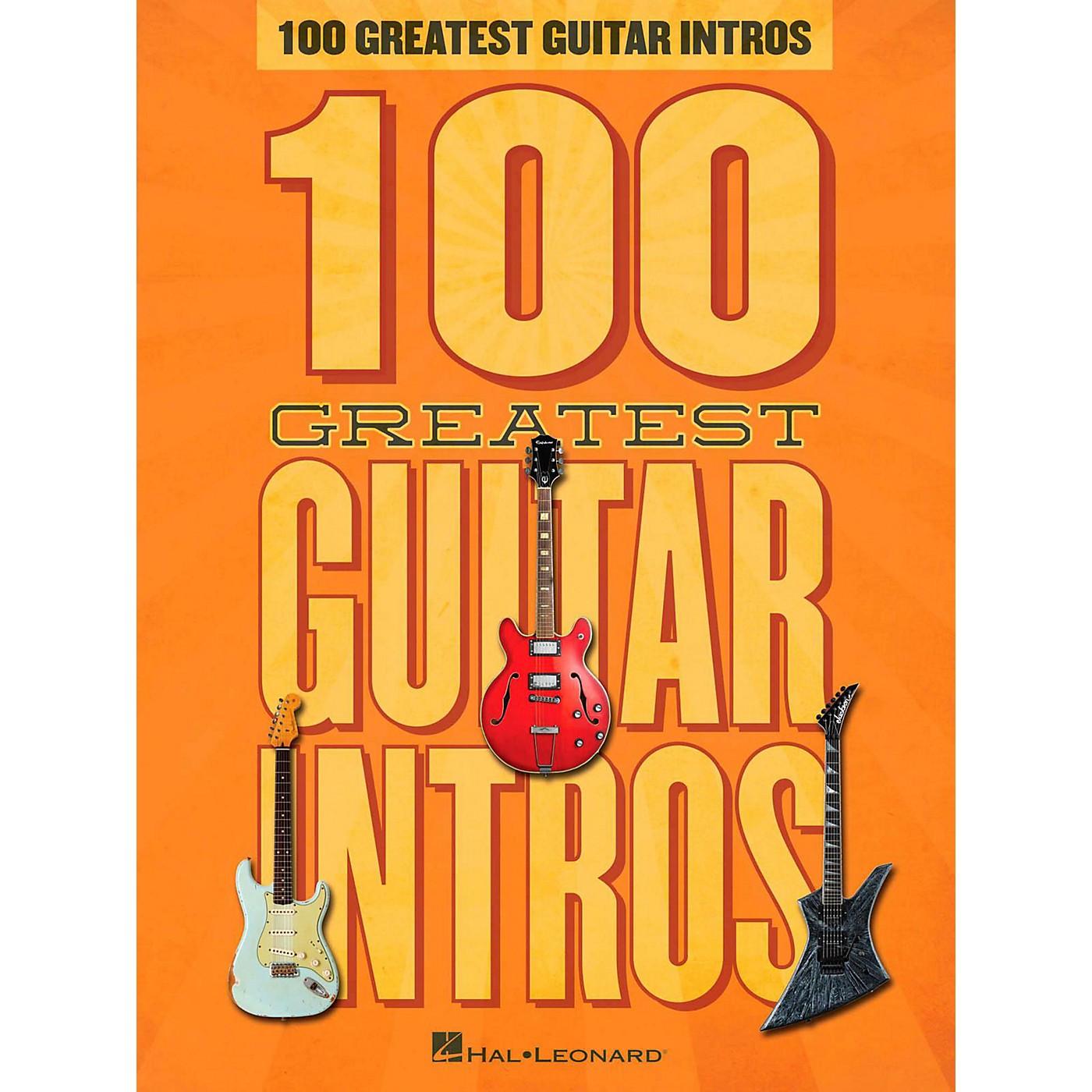 Hal Leonard 100 Greatest Guitar Intros thumbnail