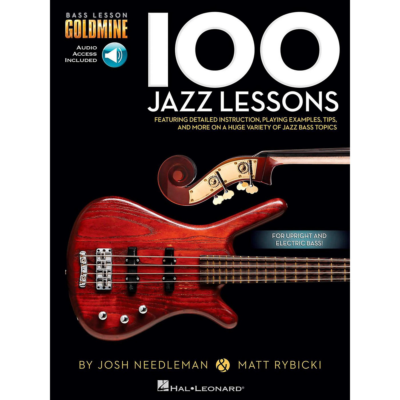 Hal Leonard 100 Jazz Lessons - Bass Lesson Goldmine Series Book/Online Audio thumbnail