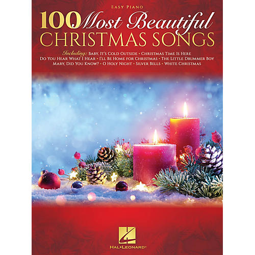 Hal Leonard 100 Most Beautiful Christmas Songs for Easy Piano thumbnail