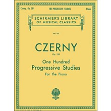 G. Schirmer 100 Progressive Studies without Octaves Op 139 By Czerny