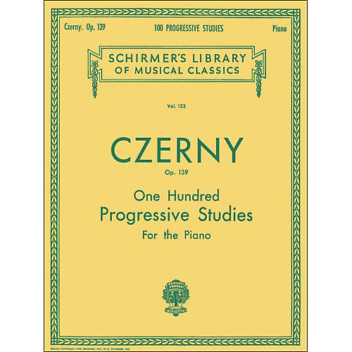 G. Schirmer 100 Progressive Studies without Octaves Op 139 By Czerny thumbnail