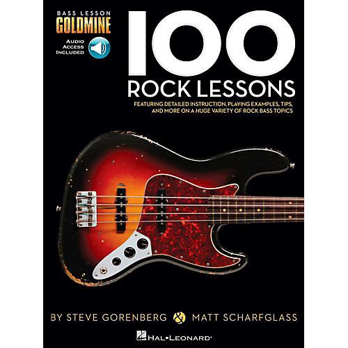 Hal Leonard 100 Rock Lessons - Bass Lesson Goldmine Series Book/Online Audio thumbnail