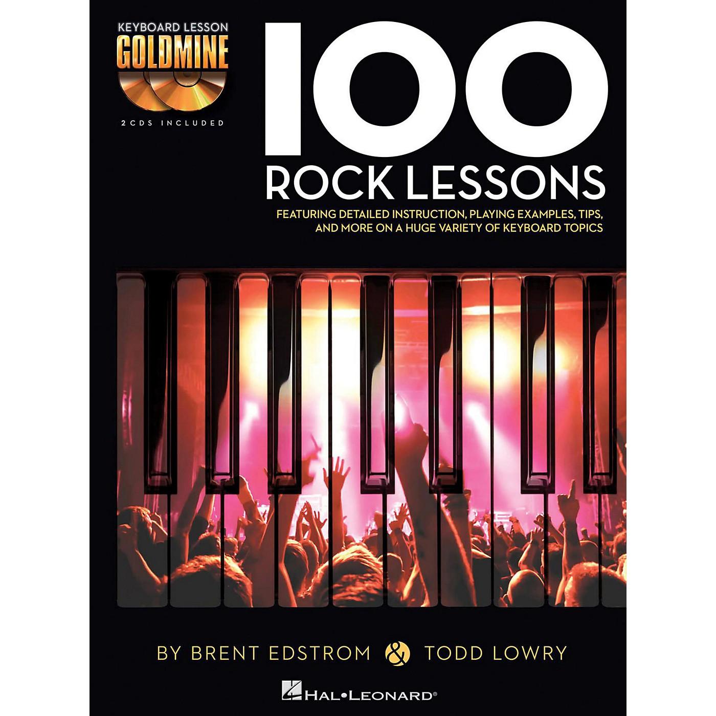 Hal Leonard 100 Rock Lessons - Keyboard Lesson Goldmine Series Book/2-CD Pack thumbnail