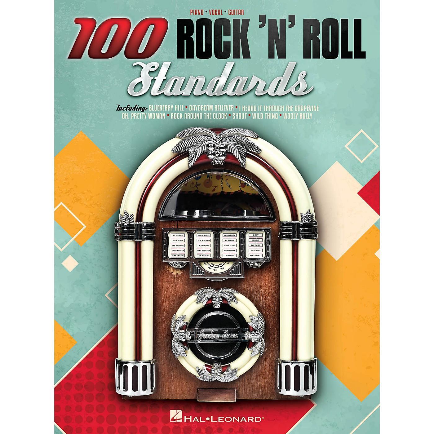 Hal Leonard 100 Rock 'n' Roll Standards Piano/Vocal/Guitar Songbook thumbnail