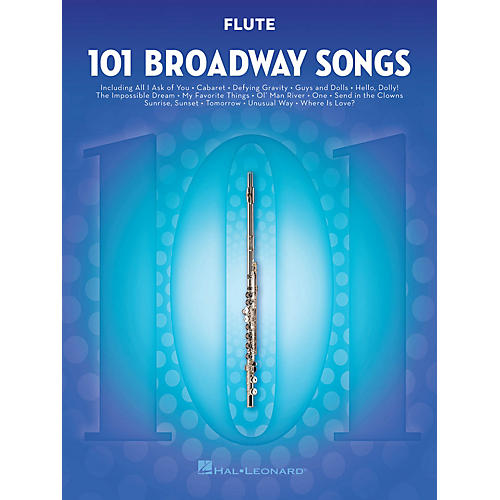 Hal Leonard 101 Broadway Songs for Flute Instrumental Folio Series Softcover thumbnail