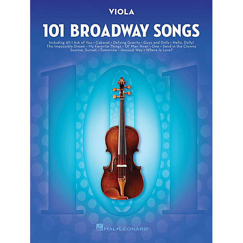 Hal Leonard 101 Broadway Songs for Viola Instrumental Folio Series Softcover thumbnail