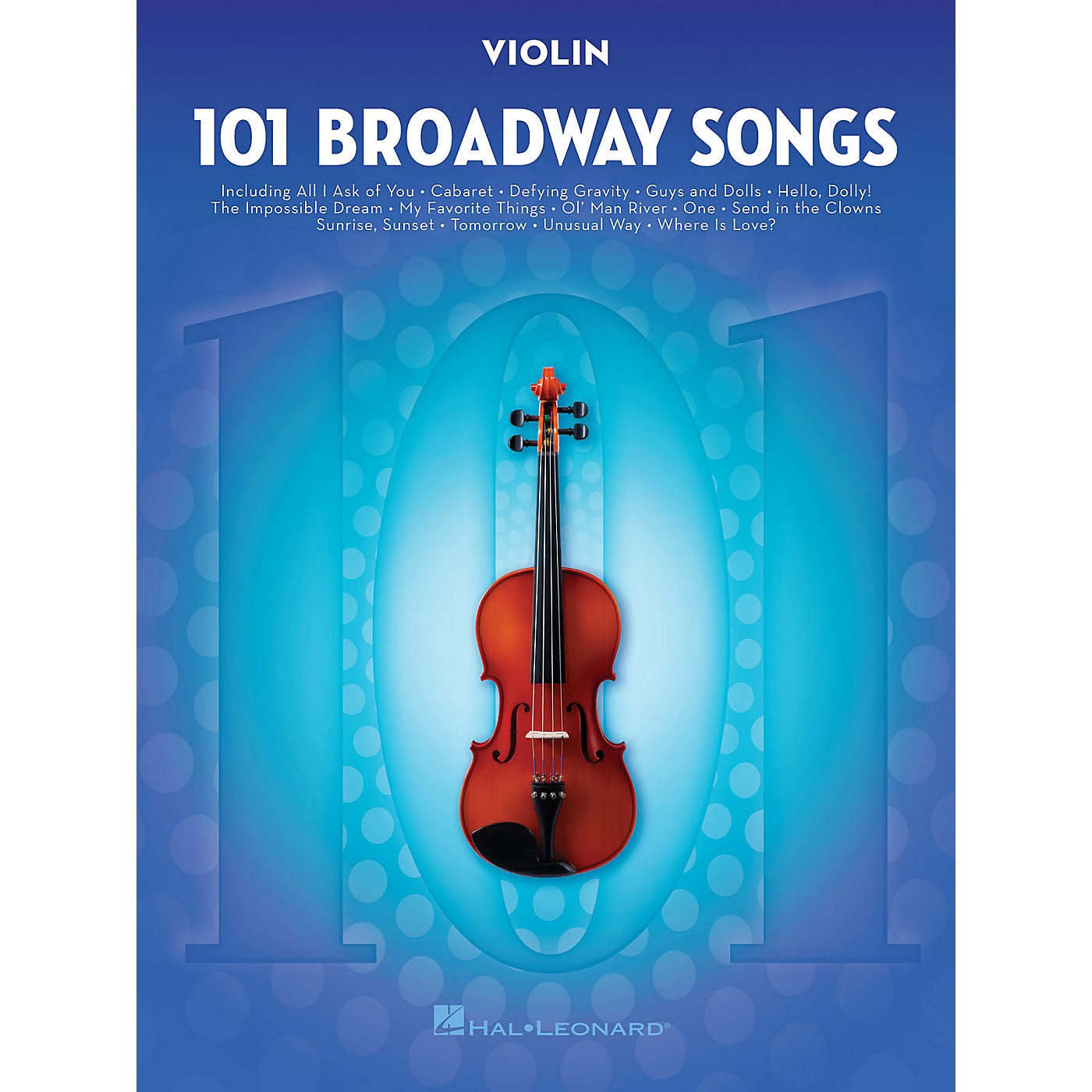 Hal Leonard 101 Broadway Songs for Violin Instrumental Folio Series Softcover thumbnail