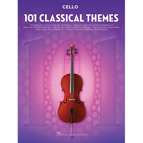 Hal Leonard 101 Classical Themes for Cello Instrumental Folio Series Softcover thumbnail
