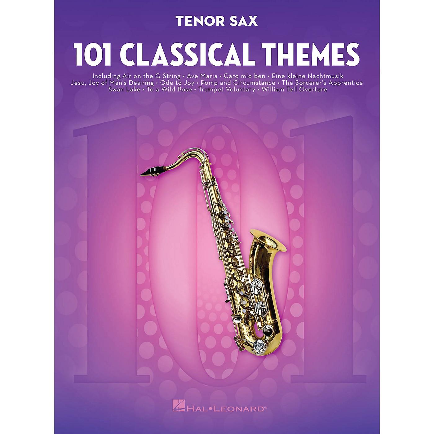 Hal Leonard 101 Classical Themes for Tenor Sax Instrumental Folio Series Book thumbnail