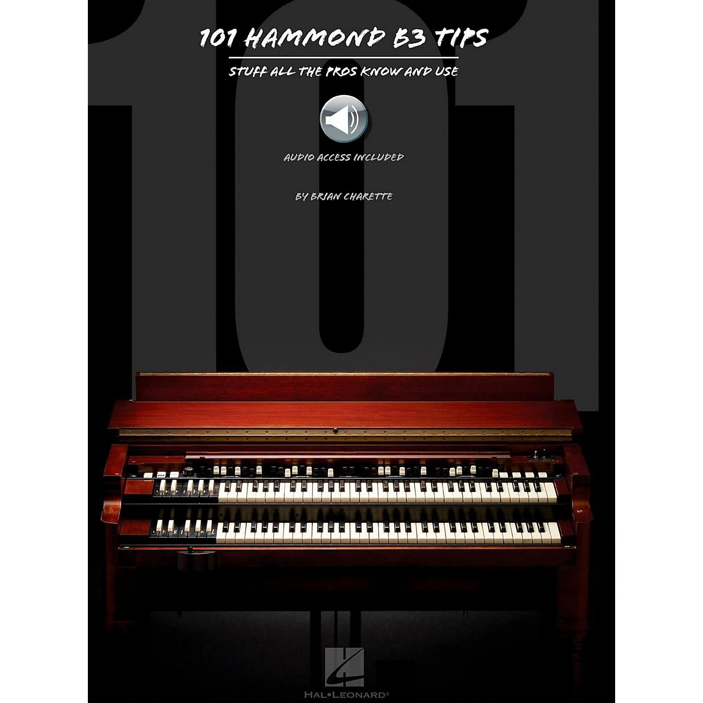 Hal Leonard 101 Hammond B-3 Tips Book/Audio Online thumbnail