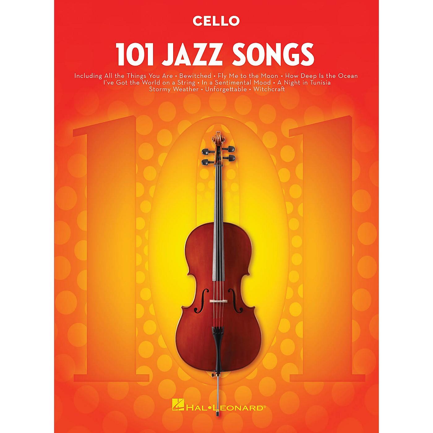 Hal Leonard 101 Jazz Songs for Cello Instrumental Folio Series Softcover thumbnail