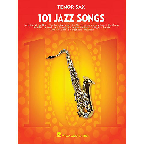 Hal Leonard 101 Jazz Songs for Tenor Sax Instrumental Folio Series Book thumbnail