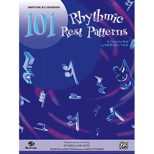 Alfred 101 Rhythmic Rest Patterns Baritone B.C. & Bassoon thumbnail