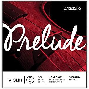 D'Addario Prelude Violin G String 3/4 Size