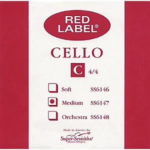 Super Sensitive Red Label Cello C String 4/4