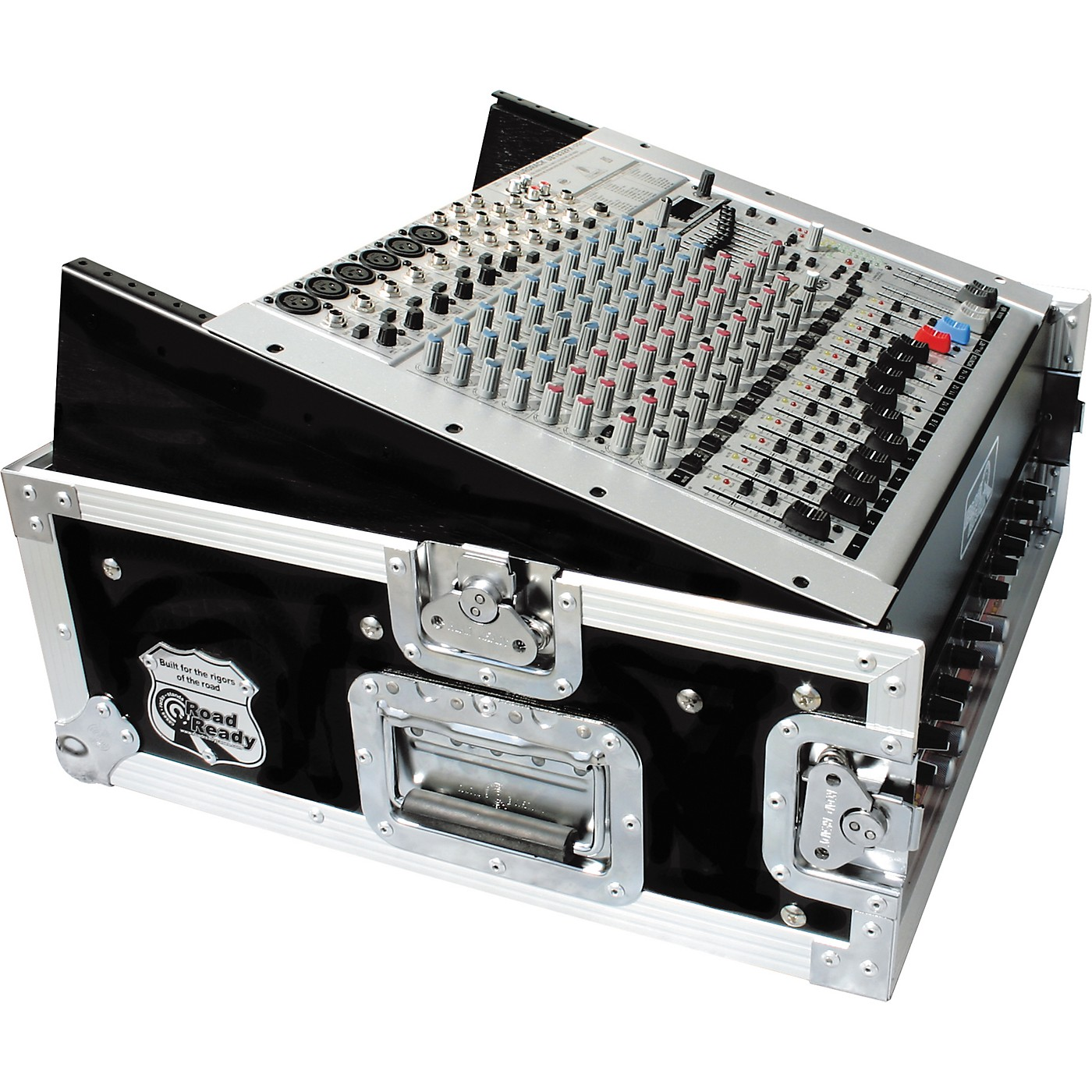 Road Runner 10U Slant Mixer Rack, 2U Vertical Rack thumbnail