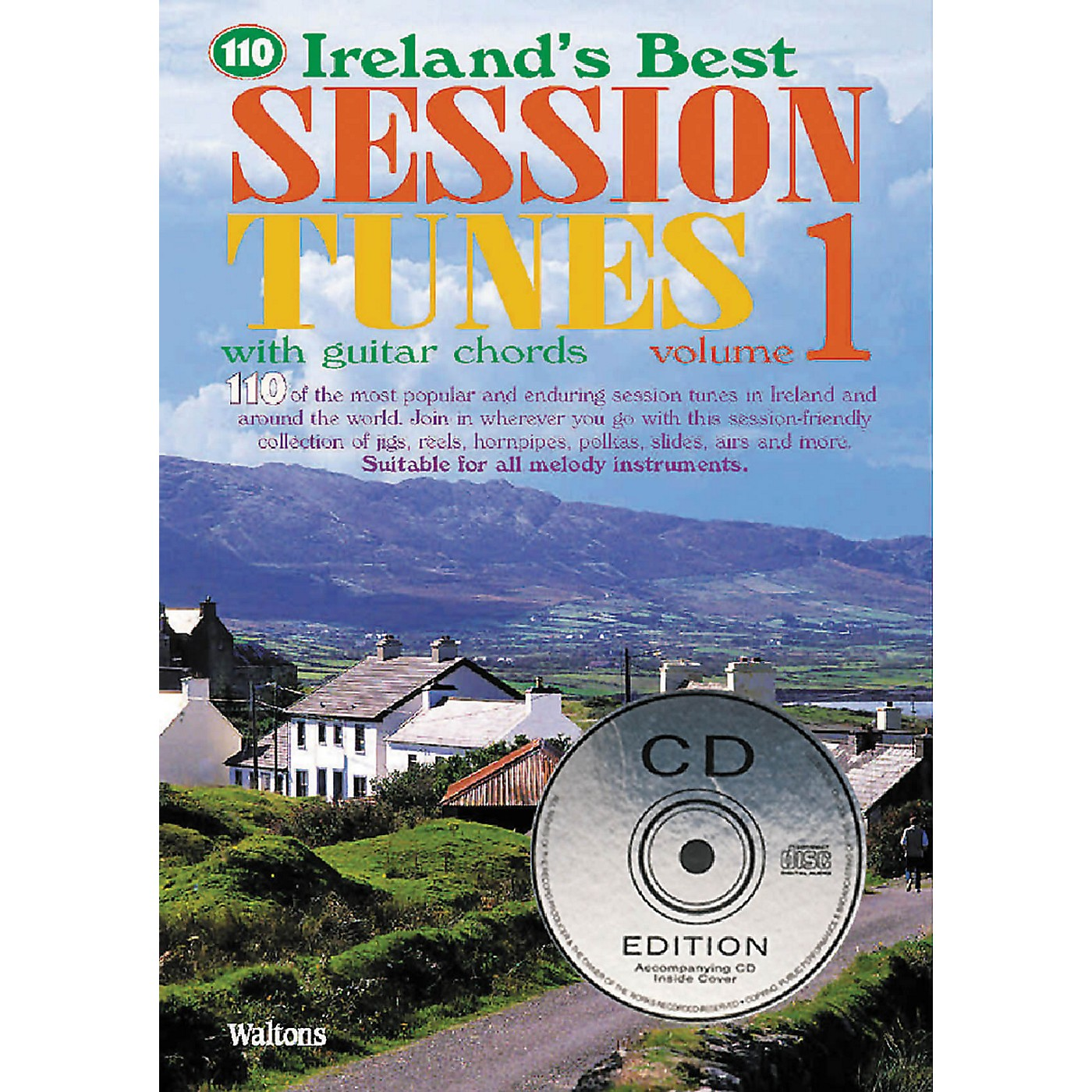 Waltons 110 Ireland's Best Session Tunes - Volume 1 Waltons Irish Music Books Series Softcover with CD thumbnail