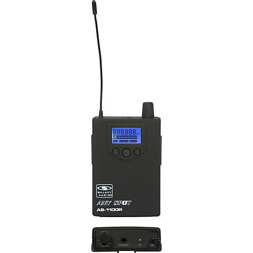 Galaxy Audio 1100 SERIES Wireless In-Ear Monitor Receiver Frequency with EB10 Earbuds thumbnail